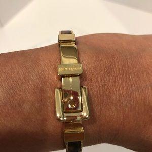 MK brown and beige enamel bracelet.